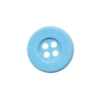 Knoop eenvoudig licht blauw 15 mm (ca. 100 stuks)