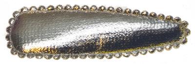 Haarkniphoesje zilver 5 cm (ca. 20 stuks)
