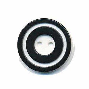 Knoop 'donut' middel zwart 20 mm (ca. 25 stuks)