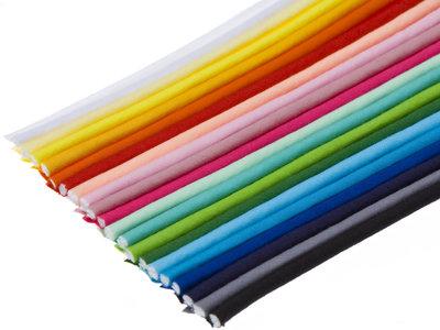 START-SET: 32 kleuren piping-/paspelband STANDAARD - 2 mm koord, elk 10 meter (ca. 320 meter)