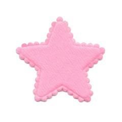 Applicatie ster vilt roze middel 35 mm (ca. 100 stuks)