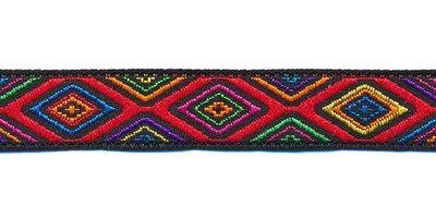 Sierband fantasy jacquard stijl multicolor 12 mm (ca. 22 m)