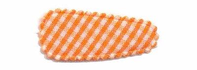 Haarkniphoesje oranje-wit geruit 3 cm (ca. 100 stuks)