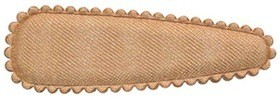 Haarkniphoesje satijn champagne 5 cm (ca. 100 stuks)