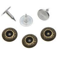 Jeans spijker bronskleurig staal 10 mm #801 (ca. 500 sets)