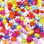 Kralen mix bloemetje ca. 9 mm (ca. 340 stuks)