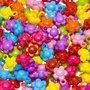 Bedel bloem met oogje mix kleuren 13 mm (ca. 150 stuks)