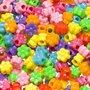 Kralen mix bloemetjes met gat zijwaarts ca. 11 mm (ca. 300 stuks)