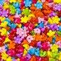 Kralen/bedels bloemetjes mix kleuren 11 mm (ca. 500 stuks)