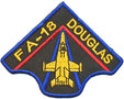 Opstrijkbare applicatie straaljager FA-18 Douglas (5 stuks)