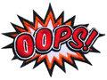 Opstrijkbare applicatie 'OOPS!' (5 stuks)