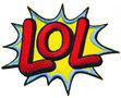 Opstrijkbare applicatie 'LOL' (5 stuks)