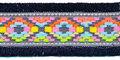 Donker blauw franjeband Ibiza stijl met franjes aan beide zijden 45 mm (ca. 5 m)
